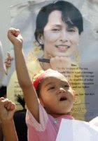 Free Burma demo in Bangkok