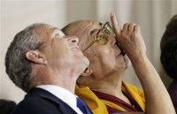 President Bush and Dalai Lama