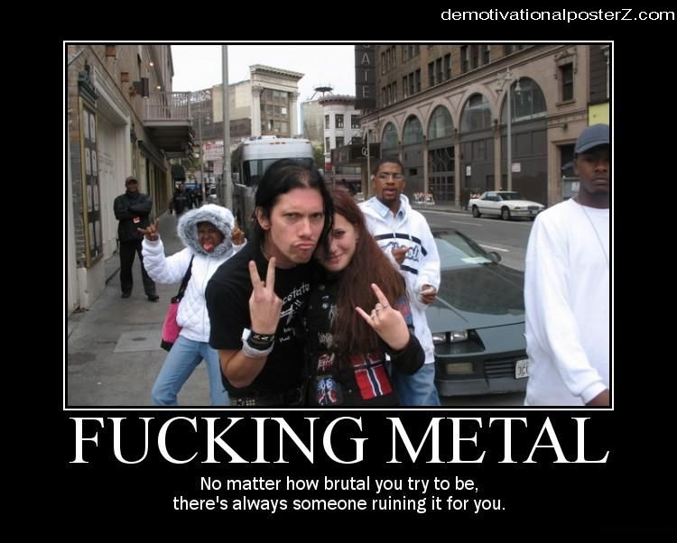 fucking metal motivational poster