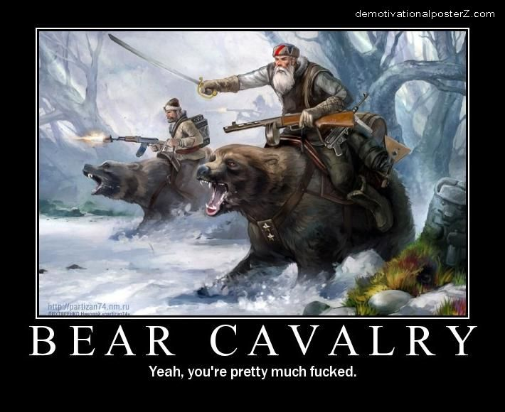 Bear Cavalry motivational