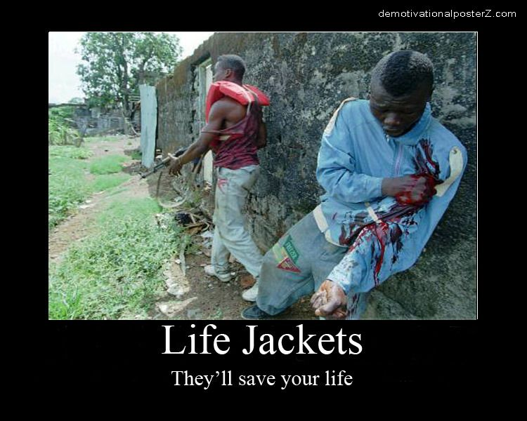 Life jackets - they'll save your life