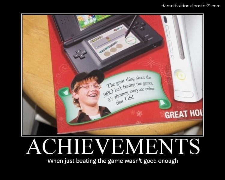 Achievements - when just beating the game wasn't good enough