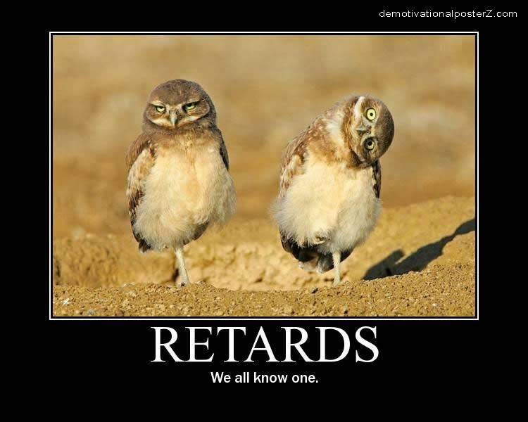 Retards - we all know one - (owl)