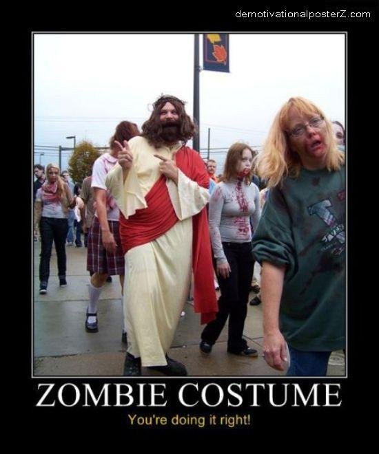 Zombie Jesus Costume doing it right