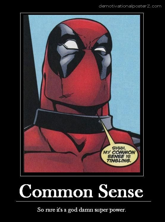 Common sense demotivational poster