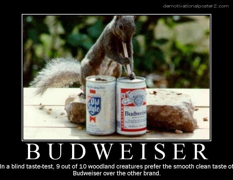 Budweiser motivational poster