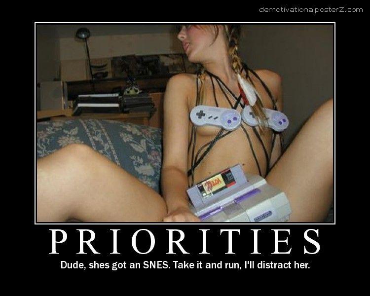 Priorities - naked SNES girl