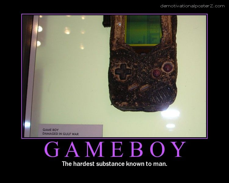 Gameboy damaged in Gulf War