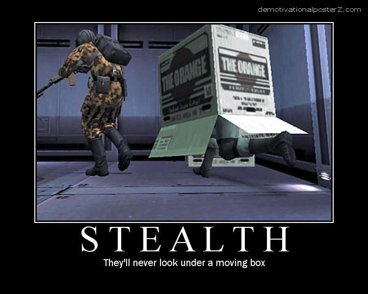 Stealth - they'll never look under a moving box