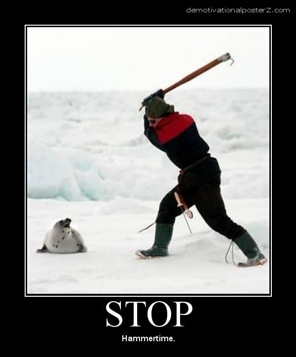 STOP, Hammertime seal clubbing