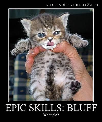 Epic skills: bluff cat kitten
