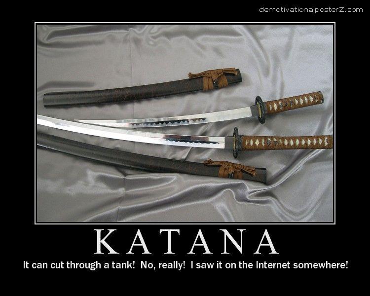 Katana motivational poster
