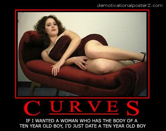 curves motivational poster