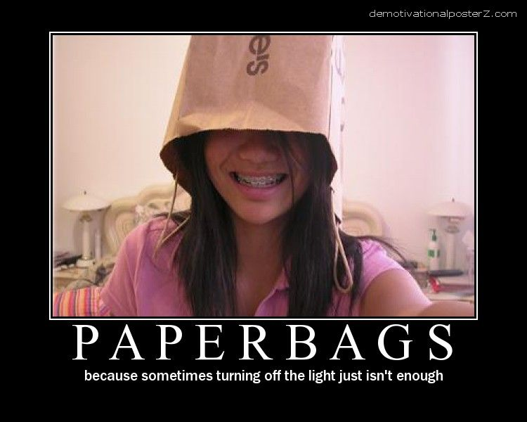 Paperbags motivational poster