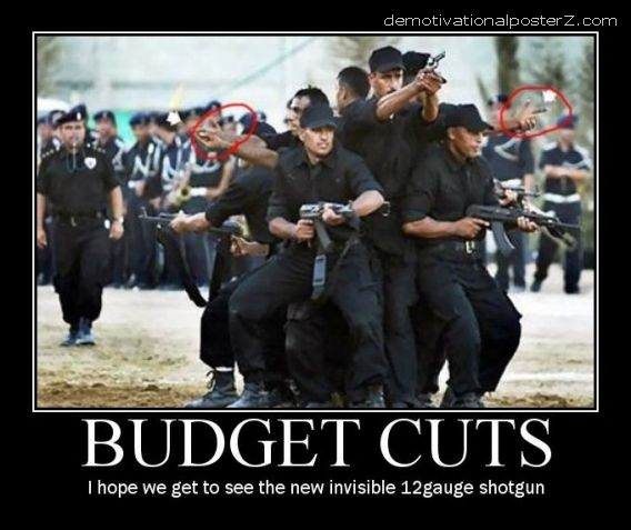 budget cuts military army motivational poster