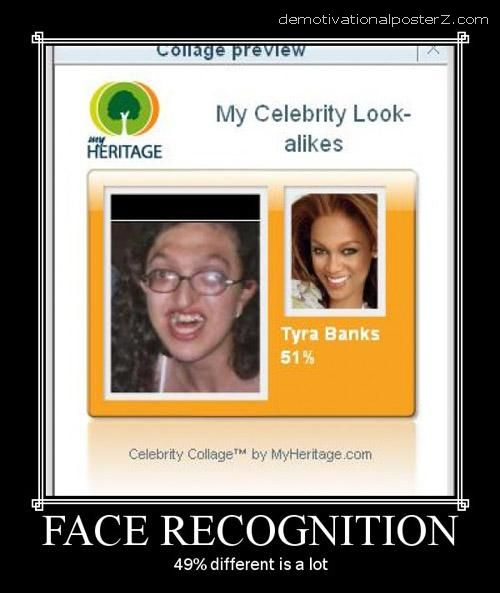 FACE RECOGNITION TYRA BANKS