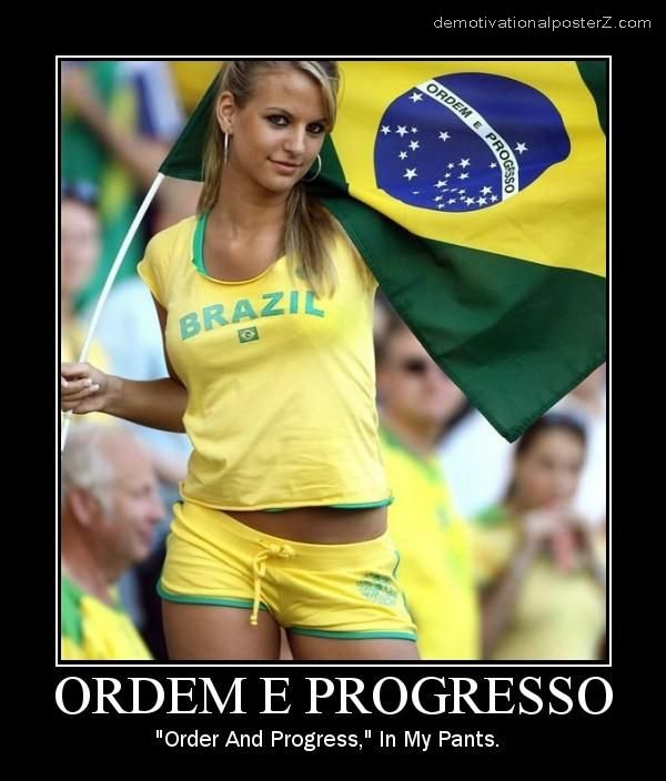 ORDEM E PROGRESSO hot blonde motivational