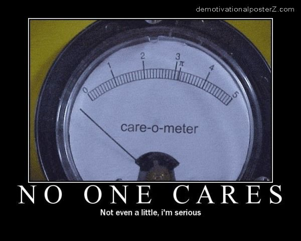 care meter no one cares poster