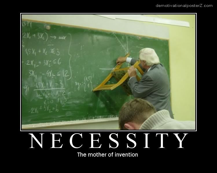 Necessity Is the Mother of All Inventions