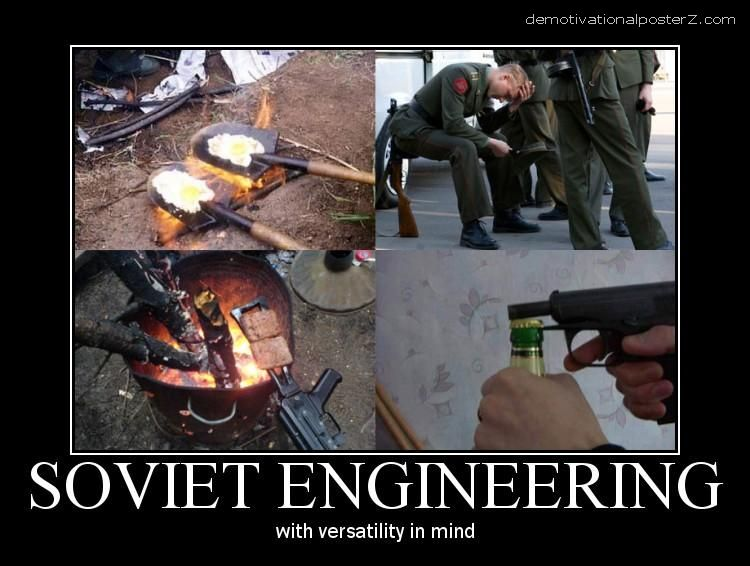 SOVIET ENGINEERING with versatility in mind