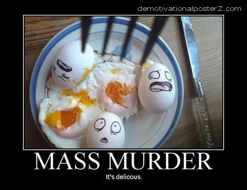 eggs murder killed