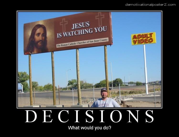decisions demotivator