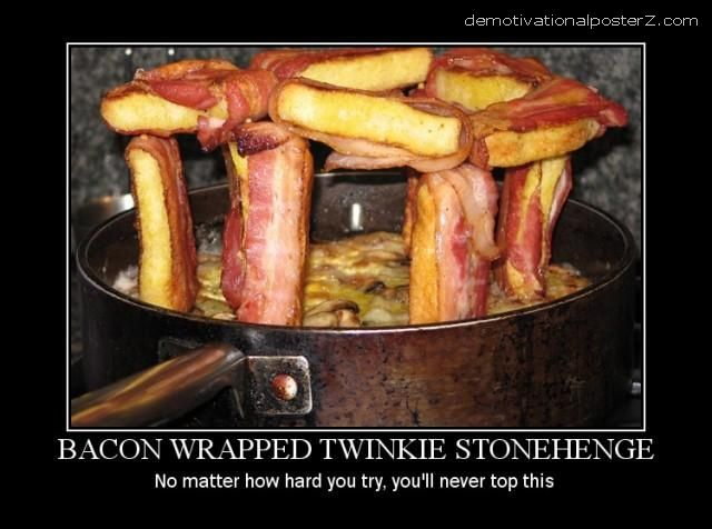 stonehenge made of bacon