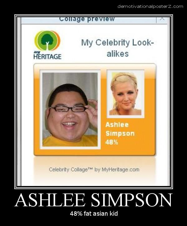 ASHLEE SIMPSON look alike, 48 percent