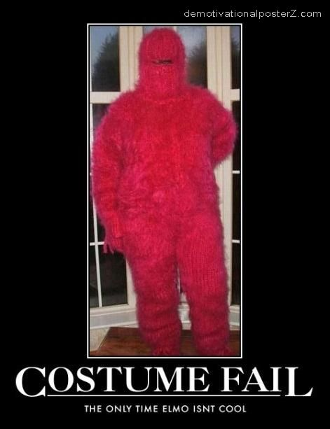 costume fail elmo