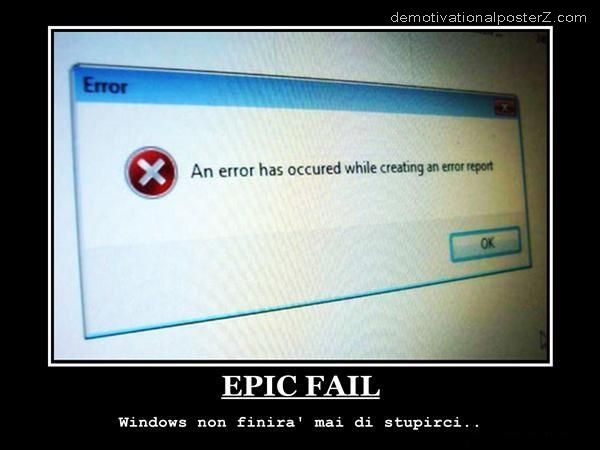error has occured while creating an error report