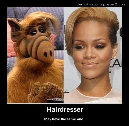 RIHANNA AND ALF same hair style