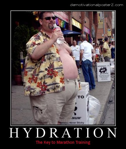 HYDRATION marathon training fat guy