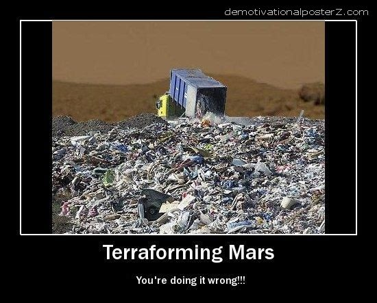 Terraforming Mars Motivational Poster