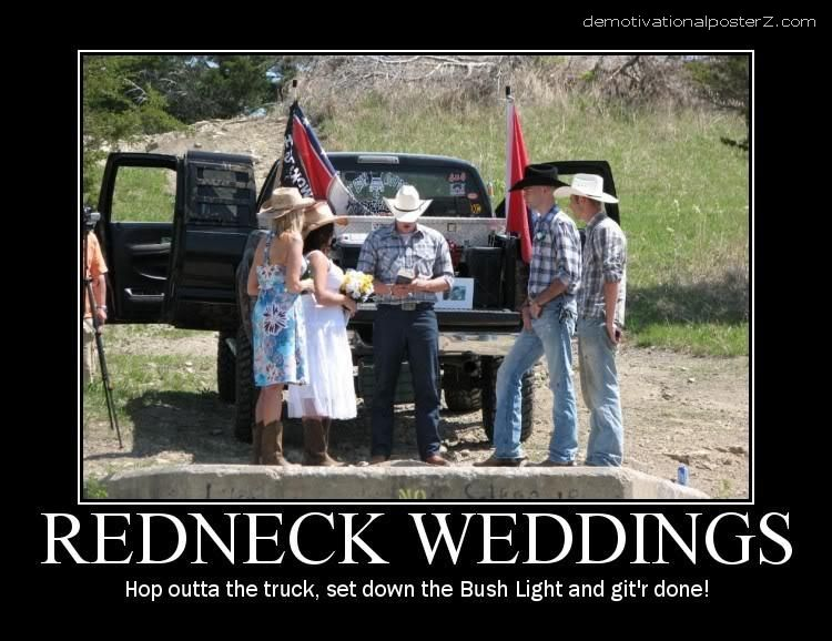 redneck weddings