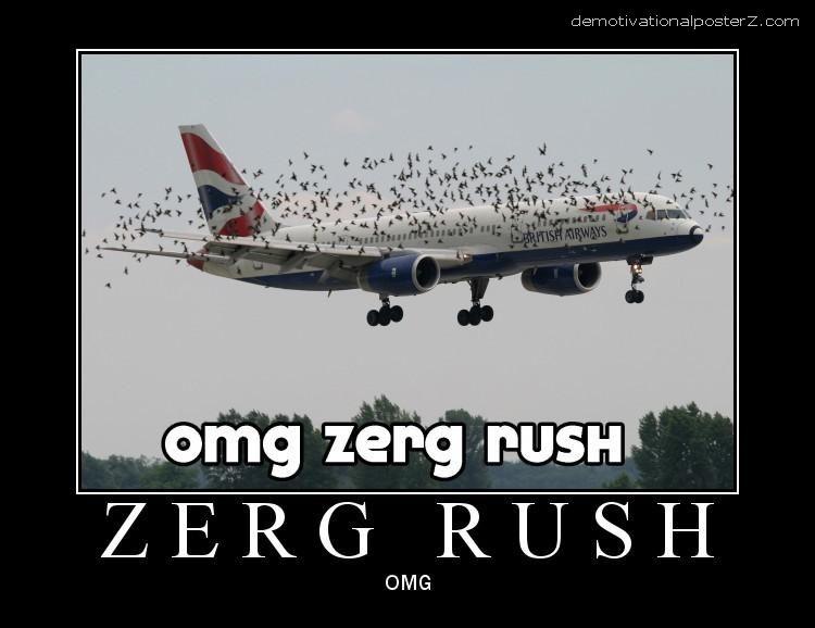 OMG ZERG RUSH PLANE