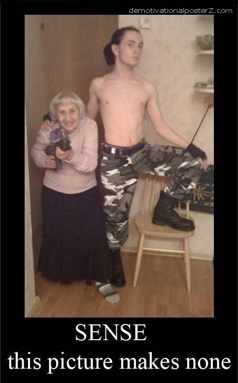 sense this pic makes none - granny with firearms