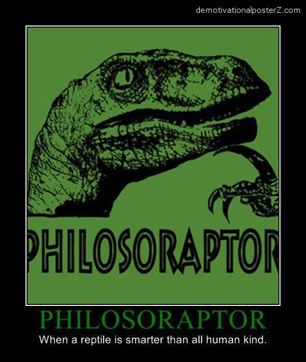 philosoporaptor demotivator