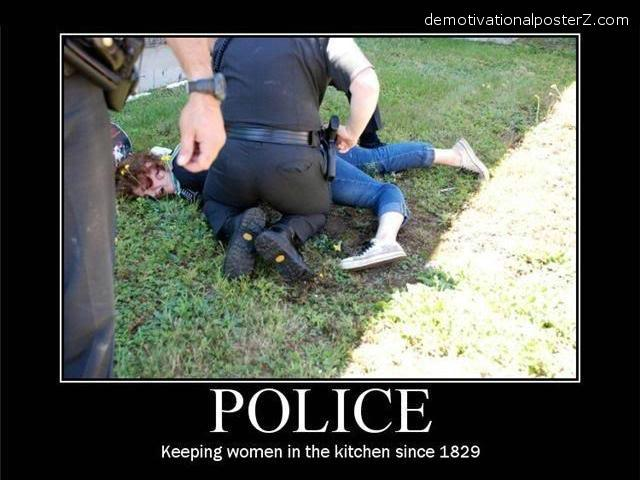 police brutality on woman