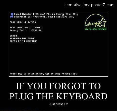 keyboard not found startup demotivator