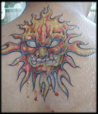 Sun Fire Tattoos