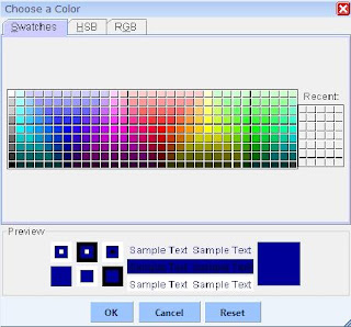 WebCream Choose Color