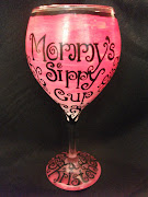 Hand Painted Personalized Wine Glass