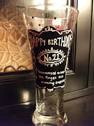Hand Painted Personalized Beer Glass