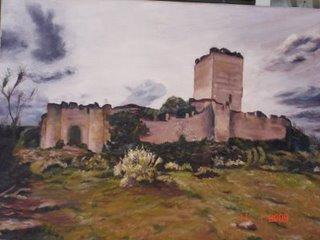 """""""Castillo de Peñafiel"""".- Pintura al oleo realizada por Juan Antonio Antúnez Morán"""