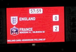 France 2, England 0.