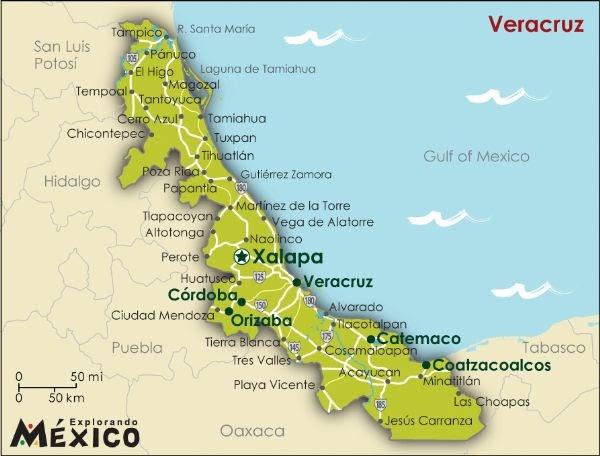 HoTeL ToNaTiUh · · ·: Mapa de Veracruz