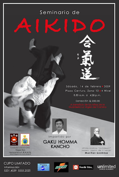 Afiche 5to. Seminario Aikido AHAN Guatemala
