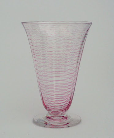 Footed threaded vase pat. 8871