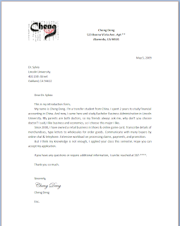 ENG 93 Business Communication Format Introduction Letter
