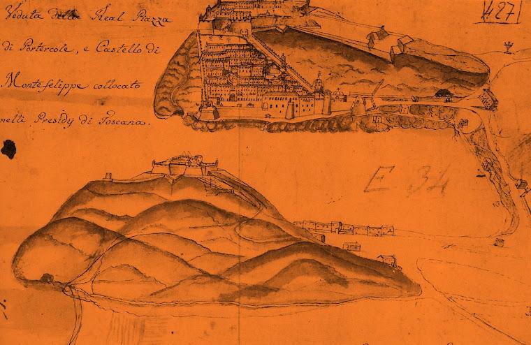 PORTO ERCOLE - PIANTINA  REALE PIAZZA E FORTE FILIPPO NEL 1753